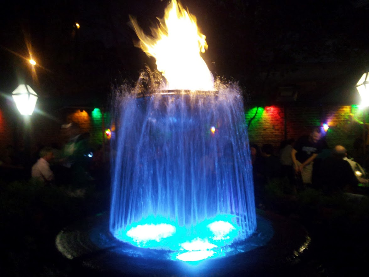 "What is your ""flaming fountain?"""