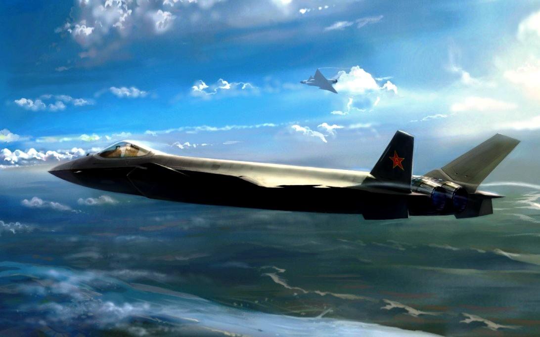 Chengdu J-20 Black Eagle Stealth Jet Fifghter Wallpaper 2