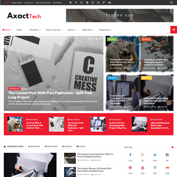 Axact Blogger Template - Mẫu Blogspot tin tức cực tốt mới nhất 2016