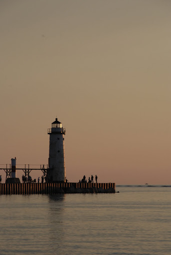 Lake Michigan Lighthouse - Manistee, Michigan