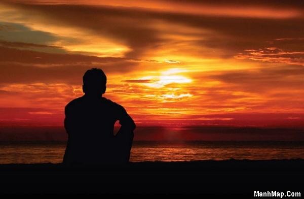 thơ cô đơn trong chiều hoàng hôn