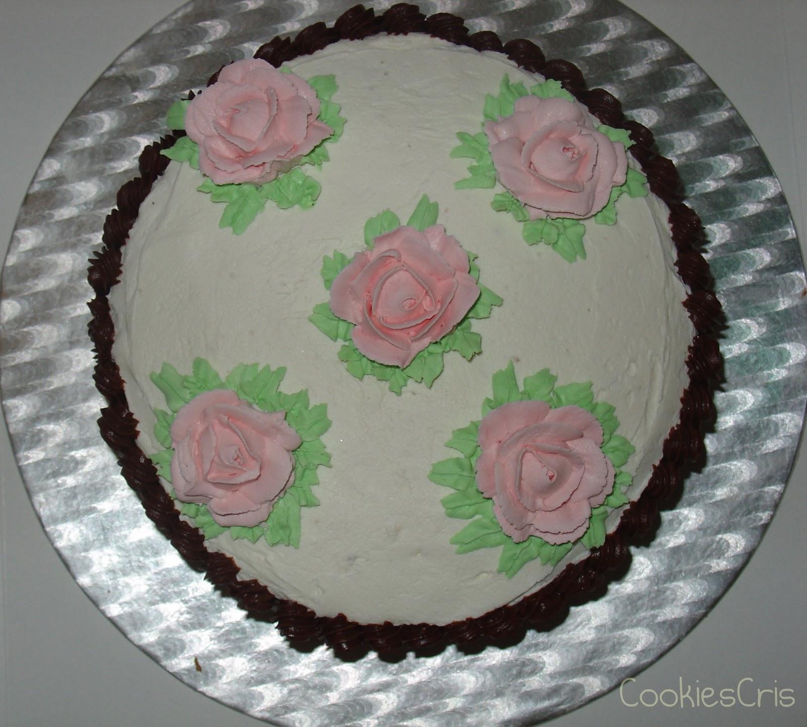CookiesCris: Tarta de Rosas de buttercream