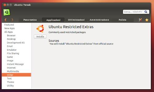 Ubuntu Tweak 0.8.0  - applicazione info