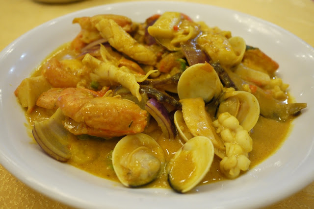 Cantonese seafood curry in Guangzhou, China