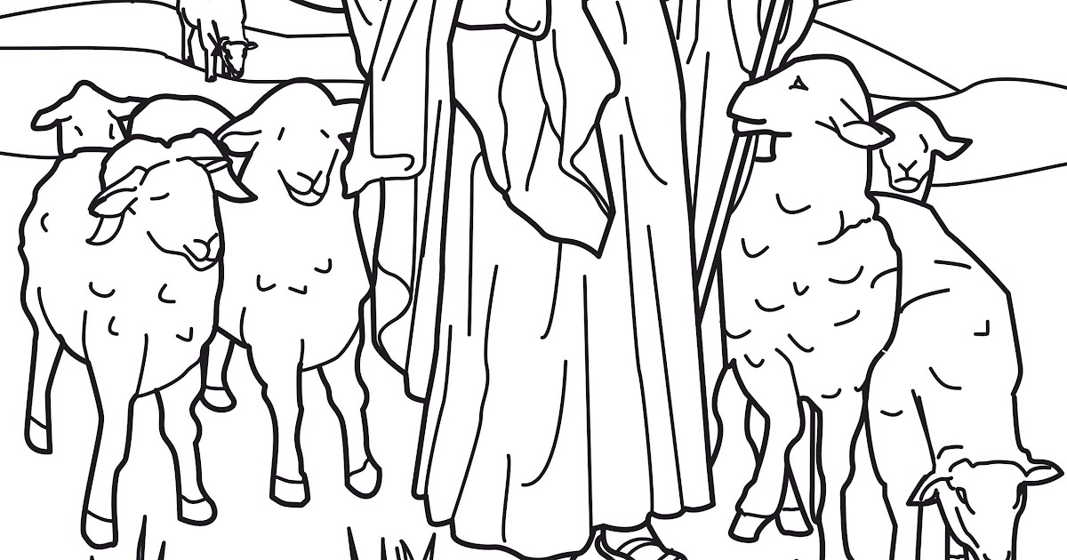 jesus the good shepherd coloring pages coloring pages - Jesus The Good Shepherd Coloring Pages