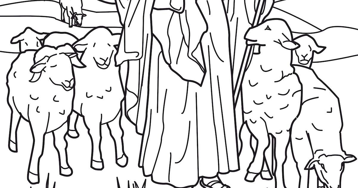 jesus the good shepherd coloring