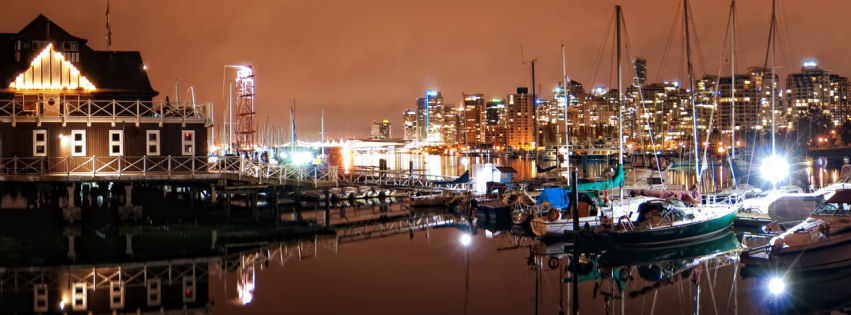 Vancouver coal harbour nights facebook cover