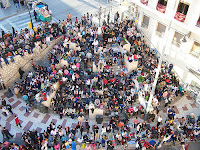 La Tribuna de los Pobres, famosa en la Semana Santa de Malaga