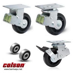 Bánh xe công nghiệp cao su đặc chống xóc chịu lực (350~400kg)