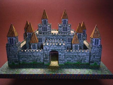 Medieval Castle Paper Model