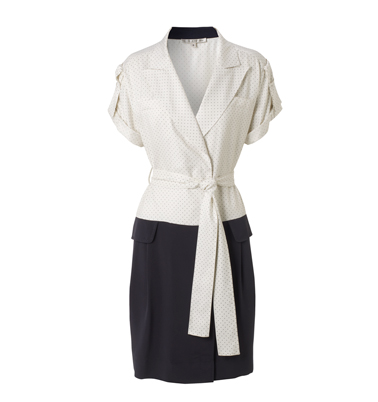 Hobbs L.E. Empire Tuxedo Dress