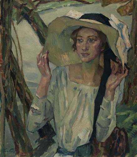 Leo Putz – Lady with a Florentine hat