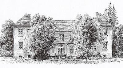 Pałac w Starej Rudnej – stan przed 1945 r.