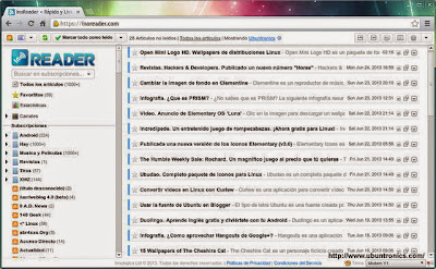 InoReader. Una gran alternativa a Google Reader