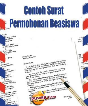 Contoh Surat Permohonan Beasiswa - pusber.com
