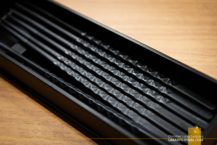 Beautiful Black Chopsticks at Yumoto Fujiya Hotel in Kanagawa