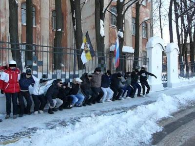 23-го февраля по всей России прошли акции здоровой молодёжи - Нижний Новгород