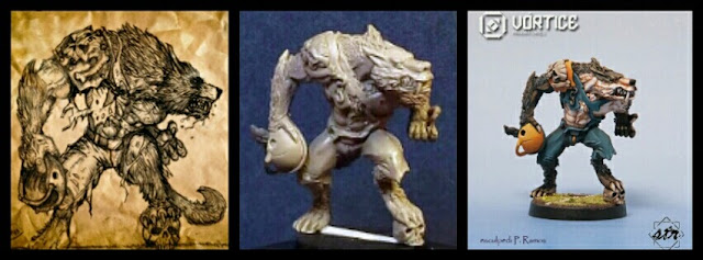 Werewolf 2 Blood Bowl Vórtice miniatures