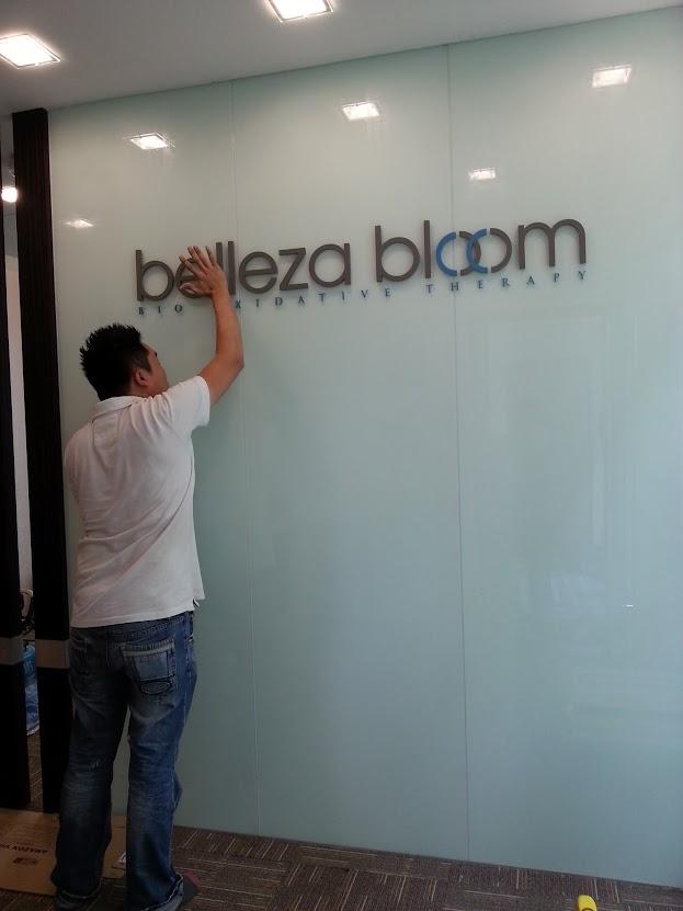 installing company logo