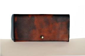 кожаный коричневый кошелёк ручной работы № 142 L