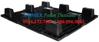 Pallet nhựa đen Thái Lan NLV 1012 NR
