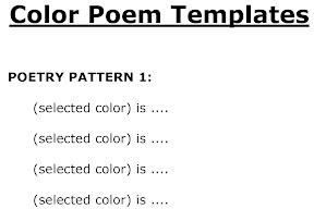 Ice cream color poems: fun ice cream shaped writing templates.