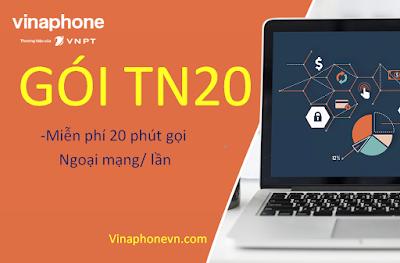 Miễn phí 20 phút gọi ngoại mạng gói cước TN20 Vinaphone chỉ với 6.000đ/lần