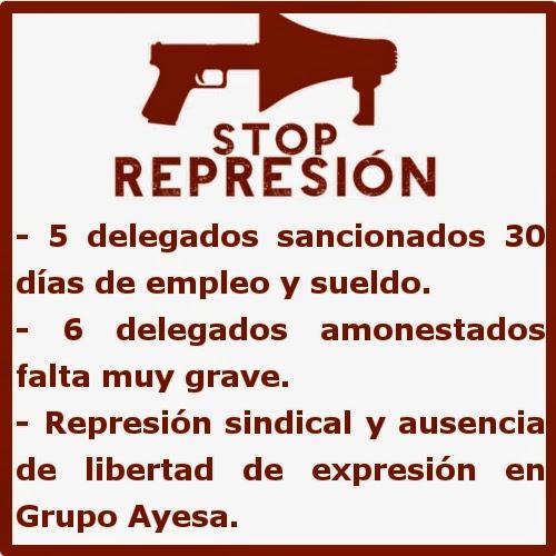 Represión en Grupo Ayesa