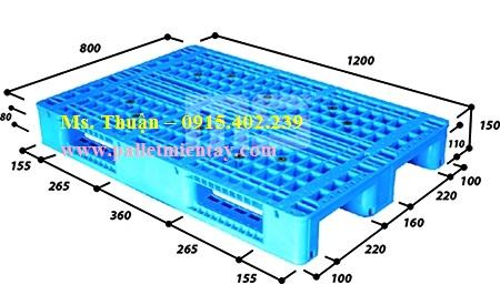EN4-1208 Pallet nhựa Malaysia nhập khẩu