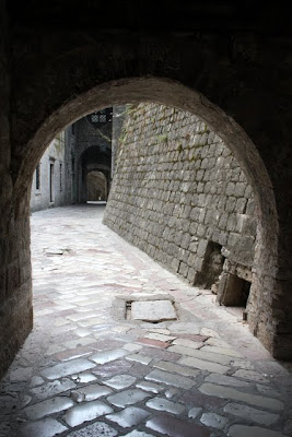 Kotor city arches in Montenegro