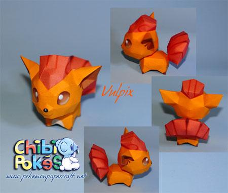 Chibi Vulpix Papercraft