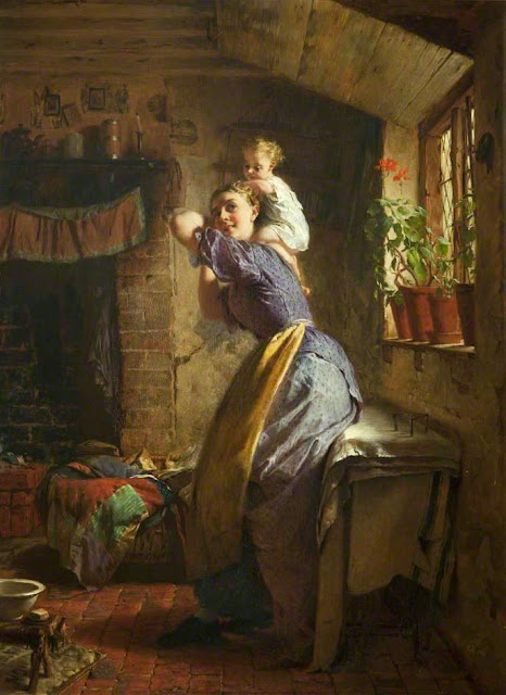 George Elgar Hicks - The Happy Mother 1886