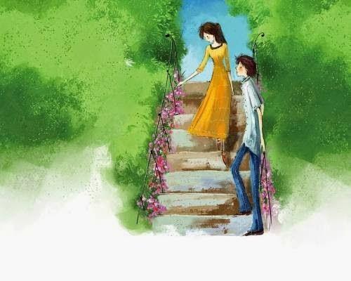 Ảnh hoạt hình về tình yêu đẹp và lãng mạn