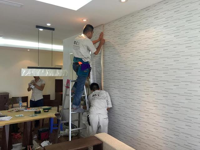 Đơn hàng dán giấy tường cần 3 nam làm việc tại Chiba Nhật Bản tháng 09/2017