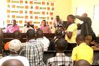 Les journalistes lors de la conférence de presse de Florent Ibenge. Radio Okapi/Ph John Bompengo.