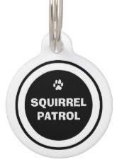 Black White Custom Dog ID Tag