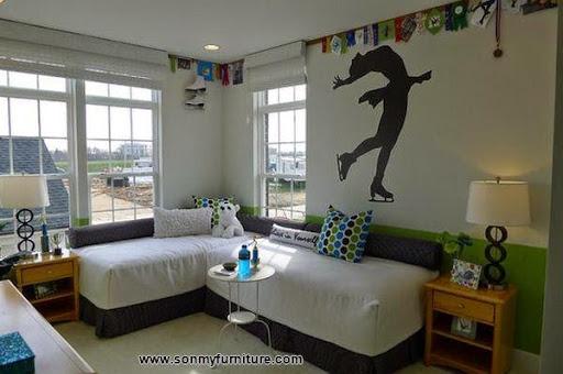 Các mẫu giường góc đẹp cho phòng ngủ nhỏ-6