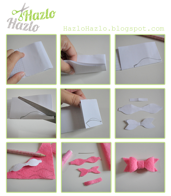Cómo decorar clips con lacitos.