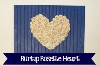 Burlap Rosette Heart Wall Decor