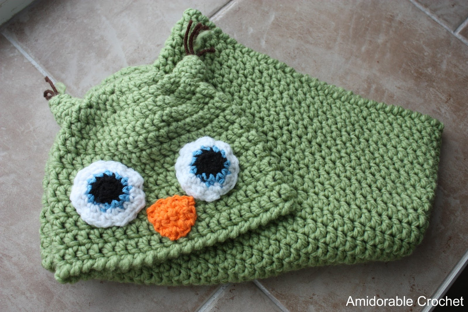 ... crocheting pattern from The Daily Crocheter :). It?s the Baby Owl