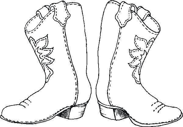 Botas Vaqueras Dibujo