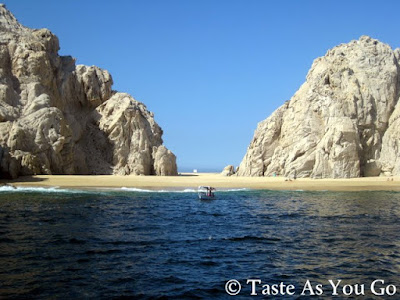 Playa del Amor (Lover's Beach) in Los Cabos, Mexico - Photo by Michelle Judd of Taste As You Go