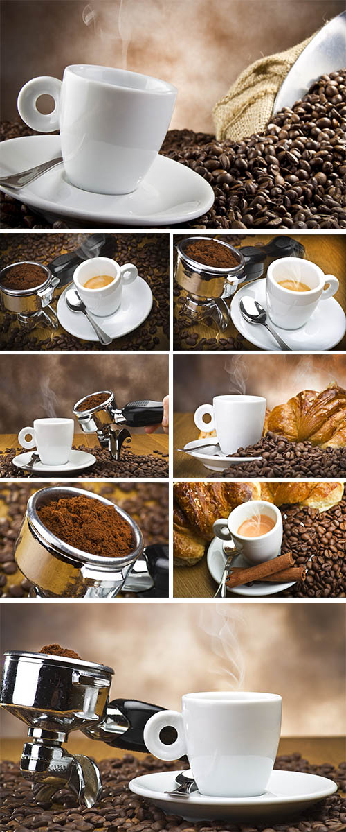 Stock Photo: Preparation of fragrant coffee