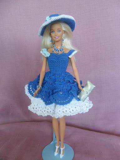 SAM 0477 - فساتين للعروسة باربي من الكروشية طريقة عمل ملابس لعرائس الاطفال بالكروشية