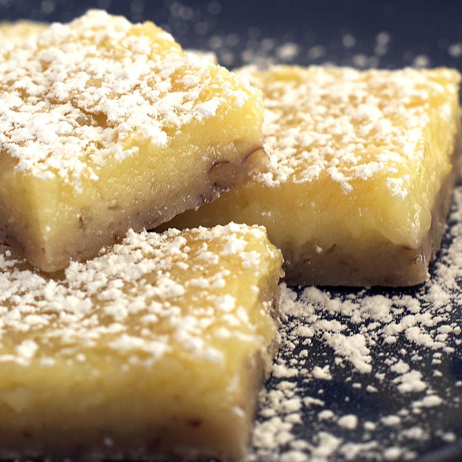Creamy Lemon Nut Bars