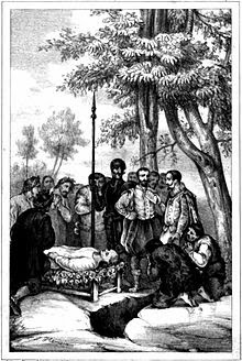 Grisóstomo y Marcela. El entierro de Grisóstomo.