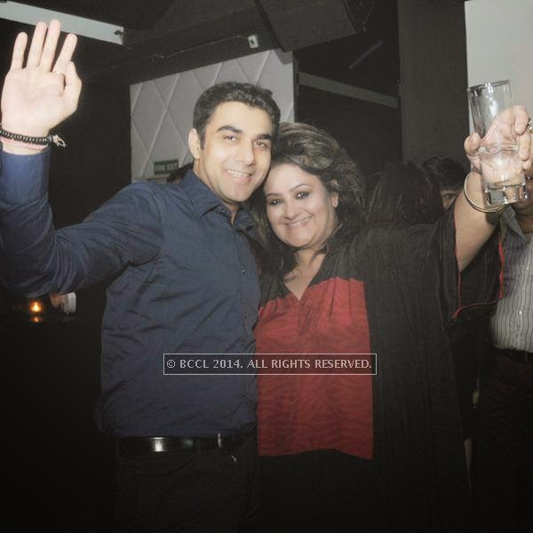 Varun Katyal and Poonam Sethi during the party, held at BW club, New Friends Colony.