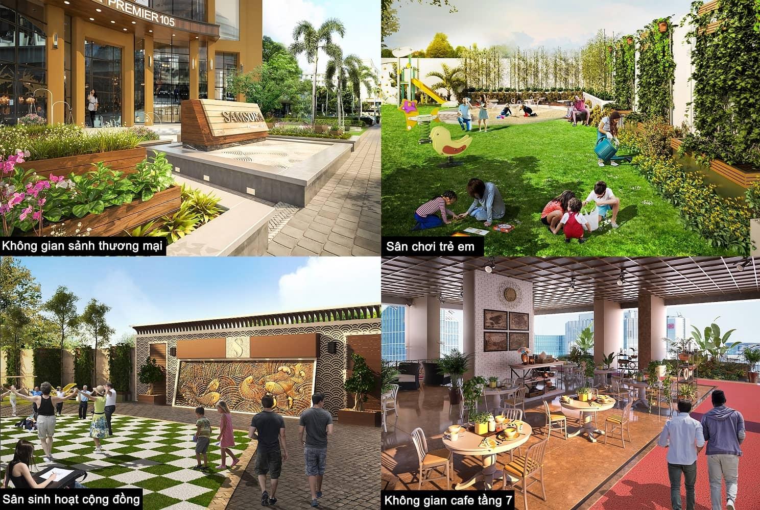 Tiện ích nội khu dự án Samsora Premier 105