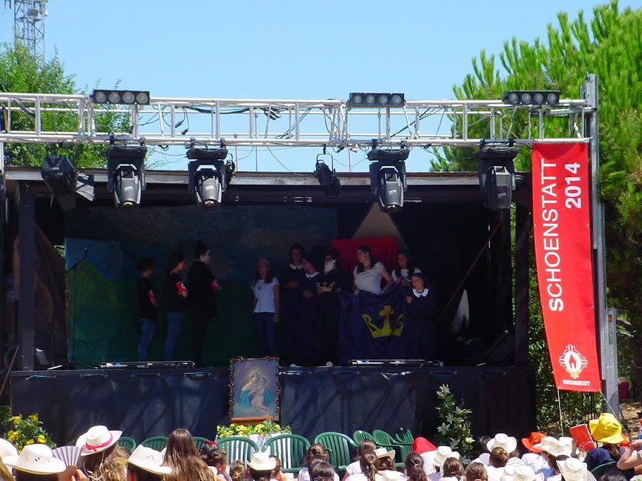 Für Maria einstehen: Musical der spanischen Mädchenjugend (Foto: Movimiento Schoenstatt de Madrid)