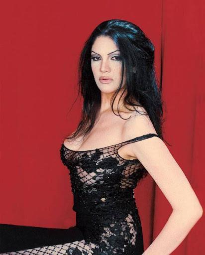 Arab Model Aline Skaf sitting